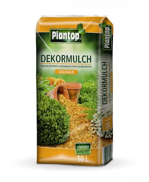 Plantop Dekor-Mulch Goldgelb
